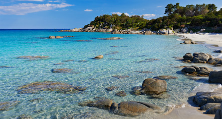 Sardinia. turquoise sea water and beach