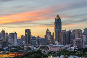 Modern building in Bangkok city