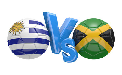 Copa America football competition, national teams Uruguay vs Jamaica
