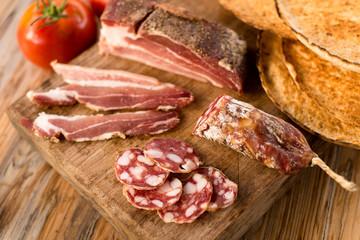 Tagliere di affettati misti, Sardinian Food