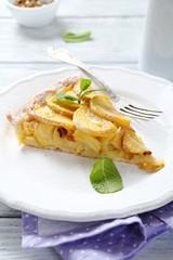 Piece of apple cake