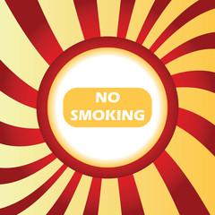 No smoking abstract icon