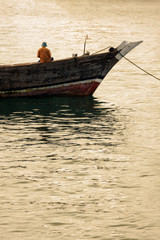 dhow traditional marine vessel at anchor