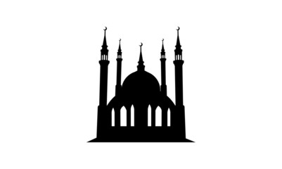 Simple Mosque Silhouette