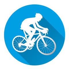 Racing cyclist icon