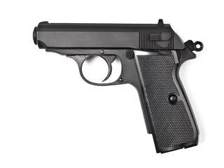 black vintage police pistol