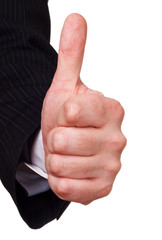 businessman approval gesture