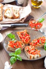 Frische italenische bruschetta