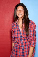 smiling brunette woman