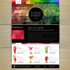 Watercolor Cocktail concept design. Corporate identity. Web site design