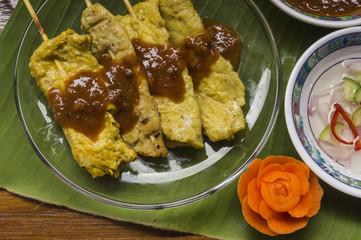 moo satay, pork satay, thai cuisine Still life