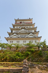 Main keep of Fukuyama Castle, Japan. National Historic Site