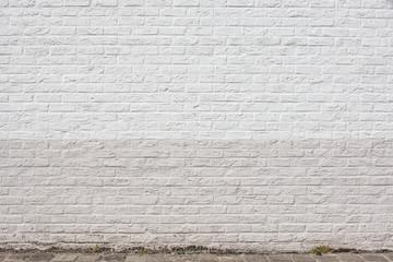 Hintergrund –weiße Ziegelsteinmauer Backsteinmauer
