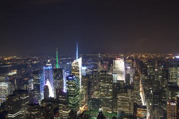 New York - Panorama notturno di Manhattan