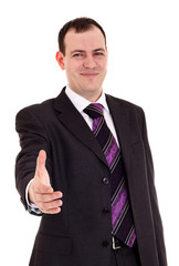 businessman ready shake hand
