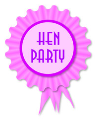 Hen Party Rosette