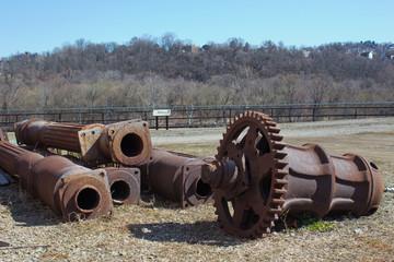 Antique Capstan - Rusty Capstan from Old Jones & Laughlin Steel Mill