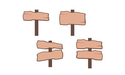 Simple Wood Signpost Set