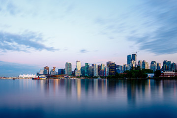 Vancouver Skyline at Sunset Wall mural