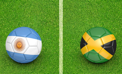 2015 Copa America football tournament, teams Argentina vs Jamaica