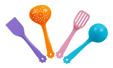 Set of toy kitchen utensils