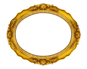 Oval Golden Frame