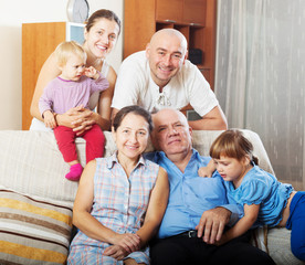 three generations family   in home