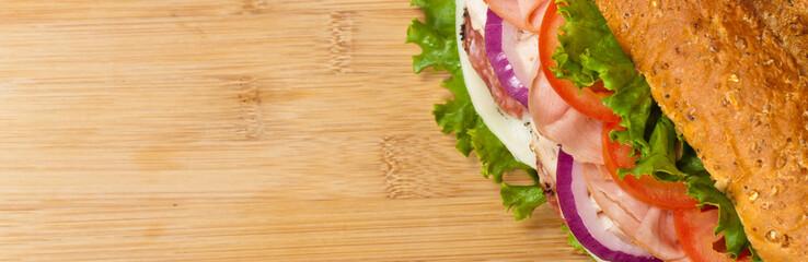 Sandwich. Selective focus.