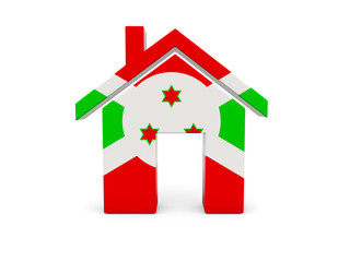 Home with flag of burundi