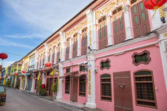 The Old Town Phuket Chino Portuguese Style at soi rommanee talang road., Phuket Town, Phuket, Thailand, Landmark