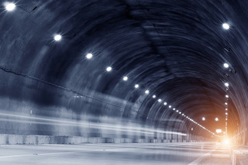 Fototapeta Abstract car in the tunnel trajectory obraz