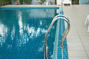 swimming poll handrail stairs