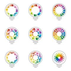 Logo Ide Rainbow Business Vector