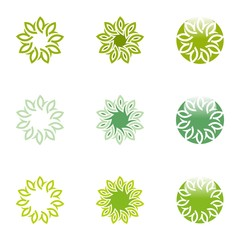 Logo Abstract Eco Leaves Business Vector