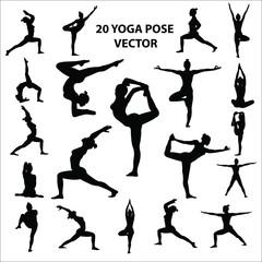 Yoga pose icon vector