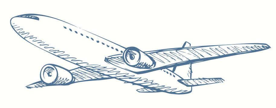 Plane. Vector drawing
