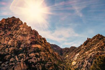 Mountainous desert landscape.