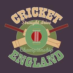 Cricket t-shirt graphic design. England