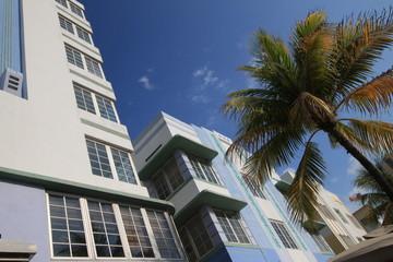 Partie am berühmten Ocean Drive in Miami Beach