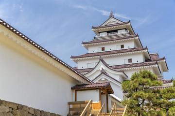 Tsyrygajo, Japanese Castle in Aizu Wakamatsu Fukushima, Japan