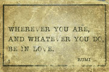 in love RUMI