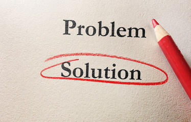 Problem Solution red circle