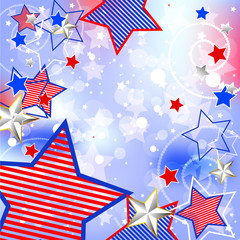 Patriotic Background.  Elements are in separate layers and grouped. Very easy to edit, It contains EPS10 with large resolution JPG.