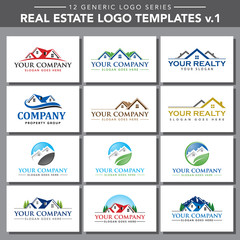 12 Generic Logo Series: Real Estate Logo Templates v.1