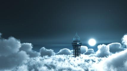 tour Eiffel dans les nuagesa