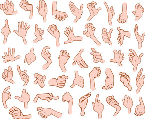 Cartoon Hands Pack 3