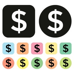 Dollar symbol. US Currency icon. Money icon. Vector