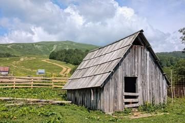 Old Wooden Barn In Montenegro