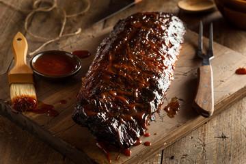 Wall Mural - Homemade Smoked Barbecue Pork Ribs
