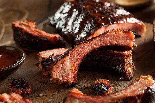 Homemade Smoked Barbecue Pork Ribs